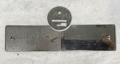 Antique Singer 127 128 Sewing Machine Slides and Needle Plate, GC