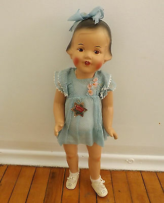 "1930s Dee N Cee All Compostion Doll Betty Original Toddler 24"" Patsy Type"
