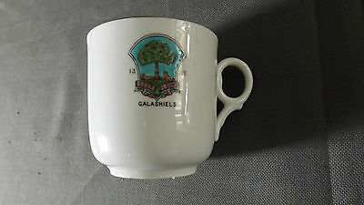 Tuscan China, Crested Ware Cup, Galashiels