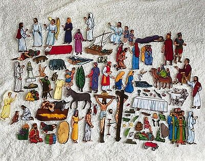 Betty Lukens Bible Story in Felt Ministry Home Sunday School 91 Pieces