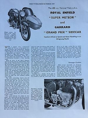 Royal Enfield Super Meteor / Garrard Gp Outfit - Original Motorcycle Article