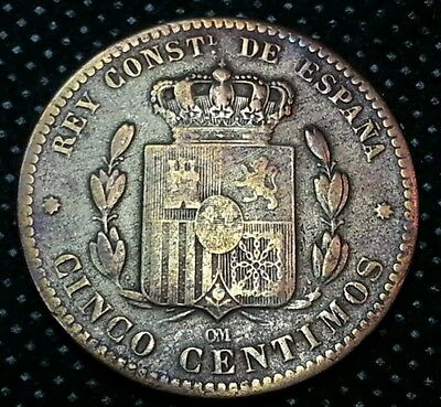 5 céntimos 1879 Alfonso XII