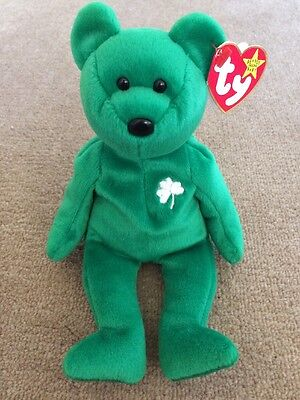 Ty Beanie Baby Bear Erin Made In Indonesia