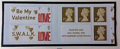 SA2 Love Self Adhesive 6 X 1st Class Stamp Booklet
