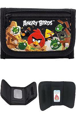 Angry Birds Black Tri-Fold Wallet