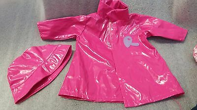 Smoby Doll Clothes Girls Pink Raincoat And Hat
