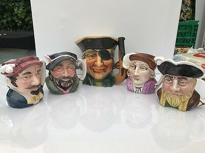 assorted small toby / character jugs