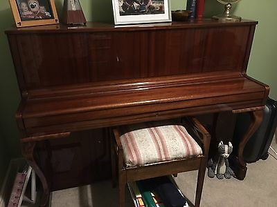 Zimmerman Upright Piano With Stool