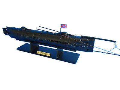 "UCSS H.L.Hunley Limited Civil War 24"" Model Submarine Boat Assembled"