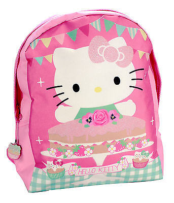 Hello Kitty Rucksack Bag ~ TEA PARTY ~ Neu & OVP BackPack Sporttasche + Glitzer