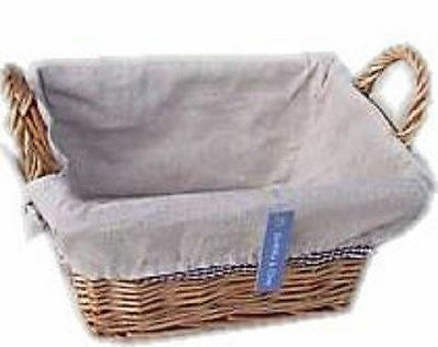 Wicker Storage Basket With Liner And Handles