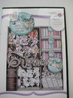 Polkadoodles SERENITY DIGITAL CRAFTING COLLECTION CD ROM