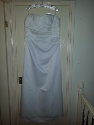 New with tags stunning strapless BHS wedding dress £125 new size 16-18