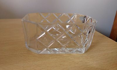 vintage cut glass dressing table dish