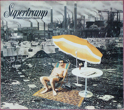 SUPERTRAMP CRISIS? WHAT CRISIS? vinyl lp A2 B2 GOOD CONDITION 1975