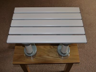 Slatted Bath/shower Stool With Suction Feet, Very Good Condition.