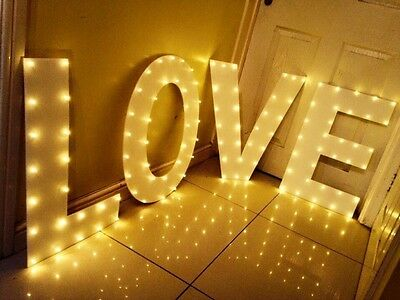 """2ft Light Up """"LOVE"""" Marquee Letters - Hen party/ wedding decoration"""