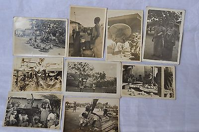 Vintage African Tribe real photographs 9 items