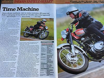 ROYAL ENFIELD BULLET 350cc / 500cc 1977 on> - ORIGINAL 7 PAGE MOTORCYCLE ARTICLE