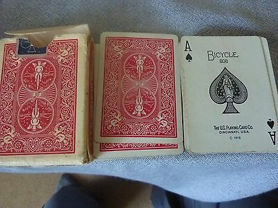 vintage incomplete pack of Bicycle rider back playing cards