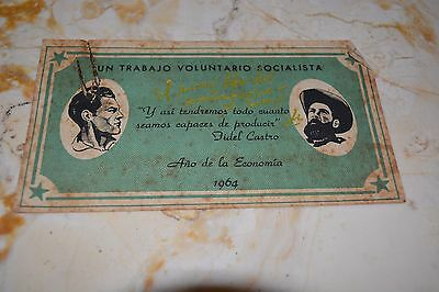 1964 CUBAN REVOLUTIONARY ADVERTISING DEDICATED SIGNED By CHE GUEVARA Fidel