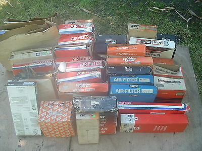 JOB LOT OF NEW OLD STOCK CLASSIC CAR AIR FILTERS, 70's 80's 90's