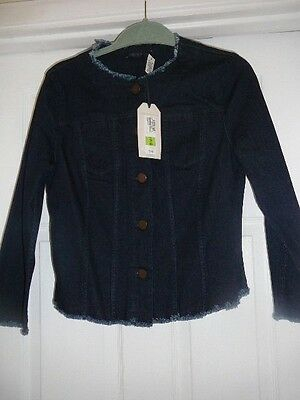 Navy Denim Jacket Size 12 by M&S Collection BNWT