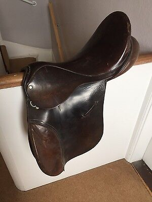 Ideal saddle, 17.5 inch, brown, GP