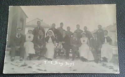 WW1 Photo Postcard Nurse's with Wounded