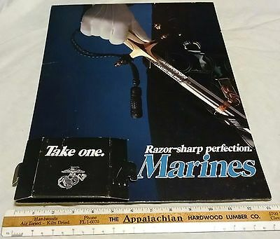 Make Offer 1990s -00s USMC Marines Recruiting Recruitment Poster Stand Display