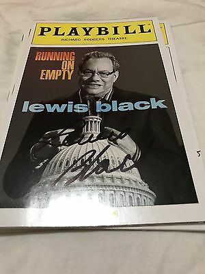 Lewis Black Running On Empty Playbill New York Hand Signed Bargain