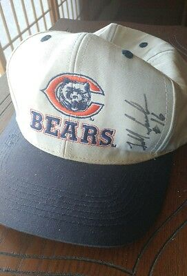 Chicago Bears signed hat by kicker Todd Sauerburn