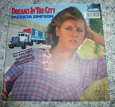 "Vinyl Singles 7"" Patricia Simpson Dreams in the city Tatort Teldec 1985"