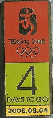 Official Beijing 2008 4 Days To Go Countdown Olympic Pin