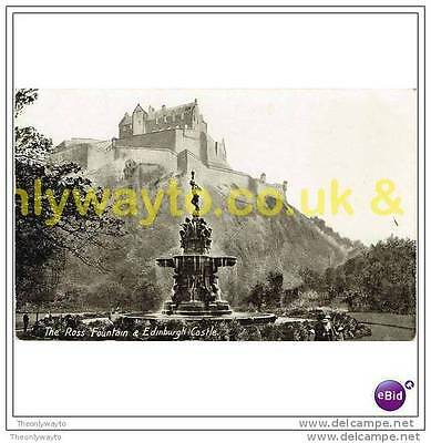 ROSS FOUNTAIN & EDINBURGH CASTLE (), SCOTLAND, Postcard