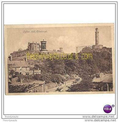 CALTON HILL, EDINBURGH, SCOTLAND, 1913, Postcard