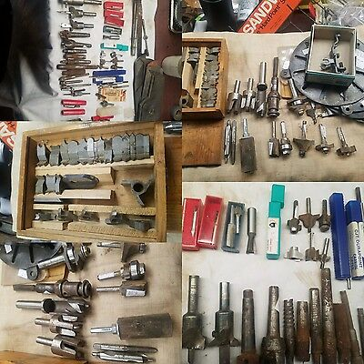 Large LOT OF Assortment of Router bits and wood working tools
