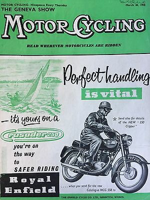 ROYAL ENFIELD CRUSADER 250cc 1958 - ORIGINAL A4 MOTORCYCLE ADVERT