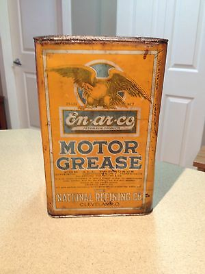 Enarco / White Rose 25lb Oil Can Collectible Vintage Very Rare 1920's