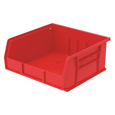 AKRO Industrial Grade Polymer Hang/Stack Bin,10-7/8 x 11 x 5, Red, 30235RED, Red