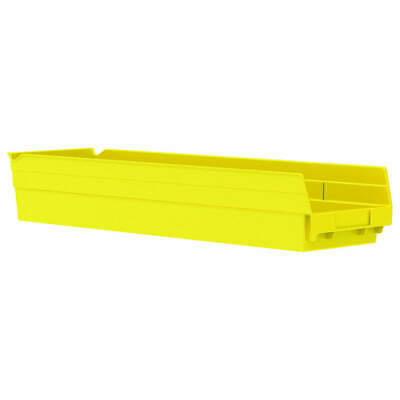 AKRO-MILS Shlf Bin,23-5/8 In. L,6-5/8 In. W,4 In H, 30164YELLO, Yellow