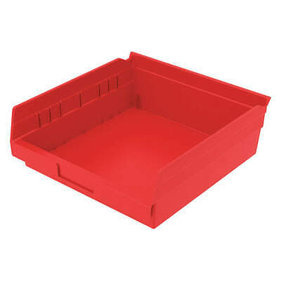 AKRO- Industrial Grade Polymer Shelf Bin,11-5/8 In. L,4 In. H,Red, 30170RED, Red