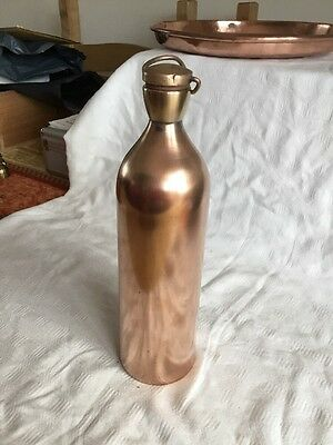 Vintage Copper Flask with Screw In Brass Stopper I.C.I.