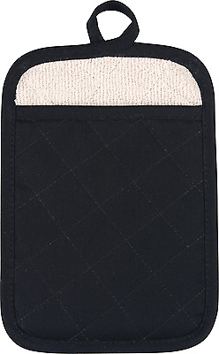 Solid Black Oven Pot Holder Mitt - NEW - FREE SHIPPING