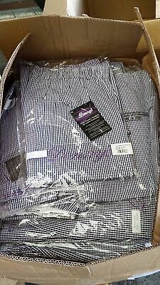 JOBLOT - Denny's Blue/White Check Chef Trousers DC02 x 10