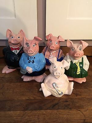 NatWest Pigs Complete Set, Wade.