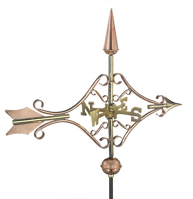 Good Directions Victorian Arrow Cottage Weathervane with Roof Mount, Pure Copper
