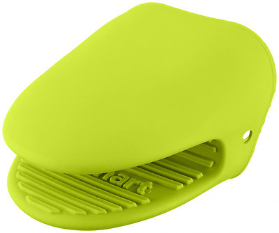 Cuisinart Silicone Mini Oven Mitt Pot Holder Set with Grip, Lime Green