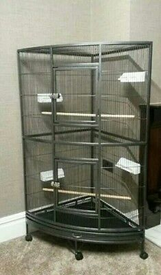 Large African Grey Parrot Corner CAGE -