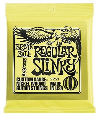 Ernie Ball 2221 electric guitar strings, Regular Slinky .010-.046
